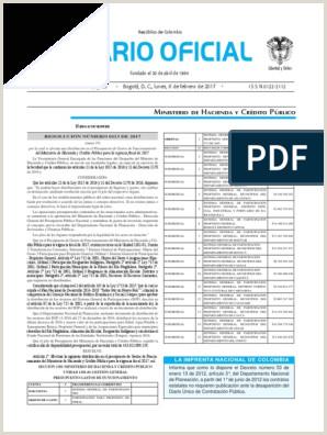 Diario oficial de Colombia n° 50 139 06 de febrero de 2017