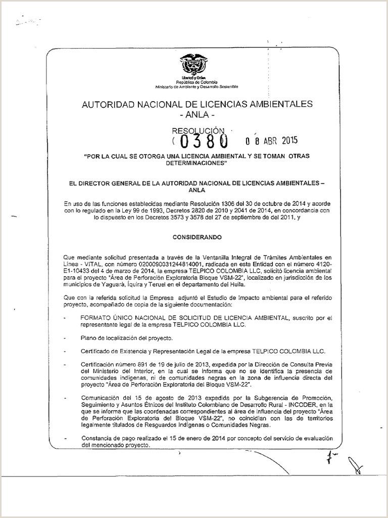 Formato Unico Hoja De Vida Representante Legal Eo03us³o Autoridad Nacional De Licencias Ambientales