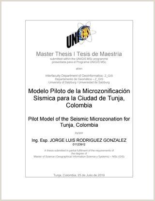 Formato Unico Hoja De Vida Republica De Colombia Modelo Piloto De La Microzonificaci³n Ssmica Para La Ciudad