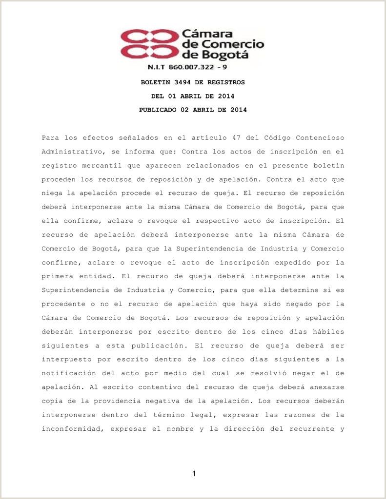 Formato Unico Hoja De Vida Sed Bogota Boletin 3494 De Registros Del 01 Abril De 2014