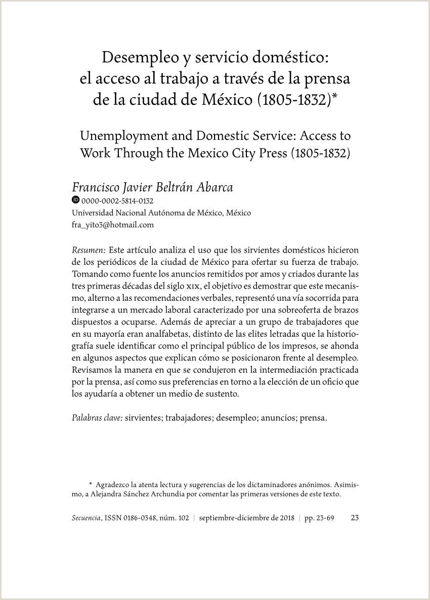 PDF Desempleo y servicio doméstico El acceso al trabajo a