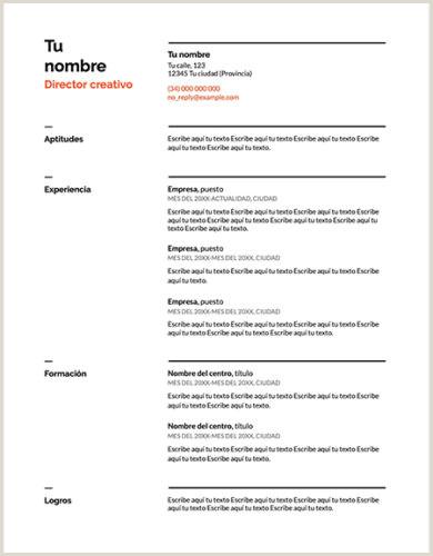 Formulario Curriculum Vitae Para Rellenar Gratis ▷ Curriculum Vitae Plantilla Word