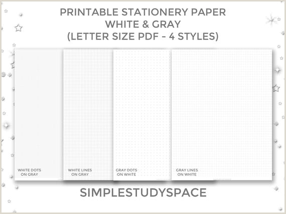 Printable Stationery Paper White Lines on Gray and Gray