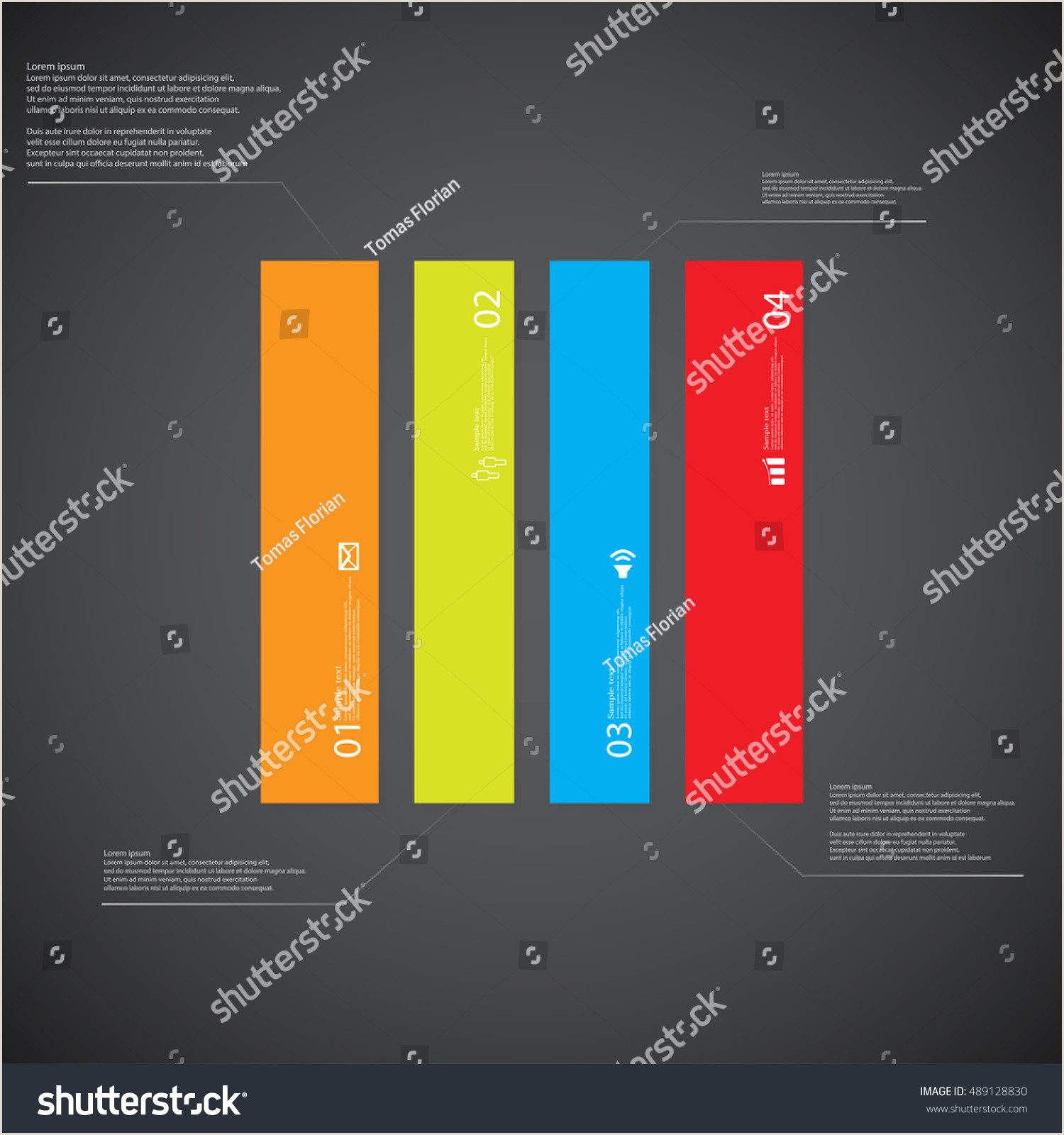Illustration Infographic Template Shape Rectangle Square