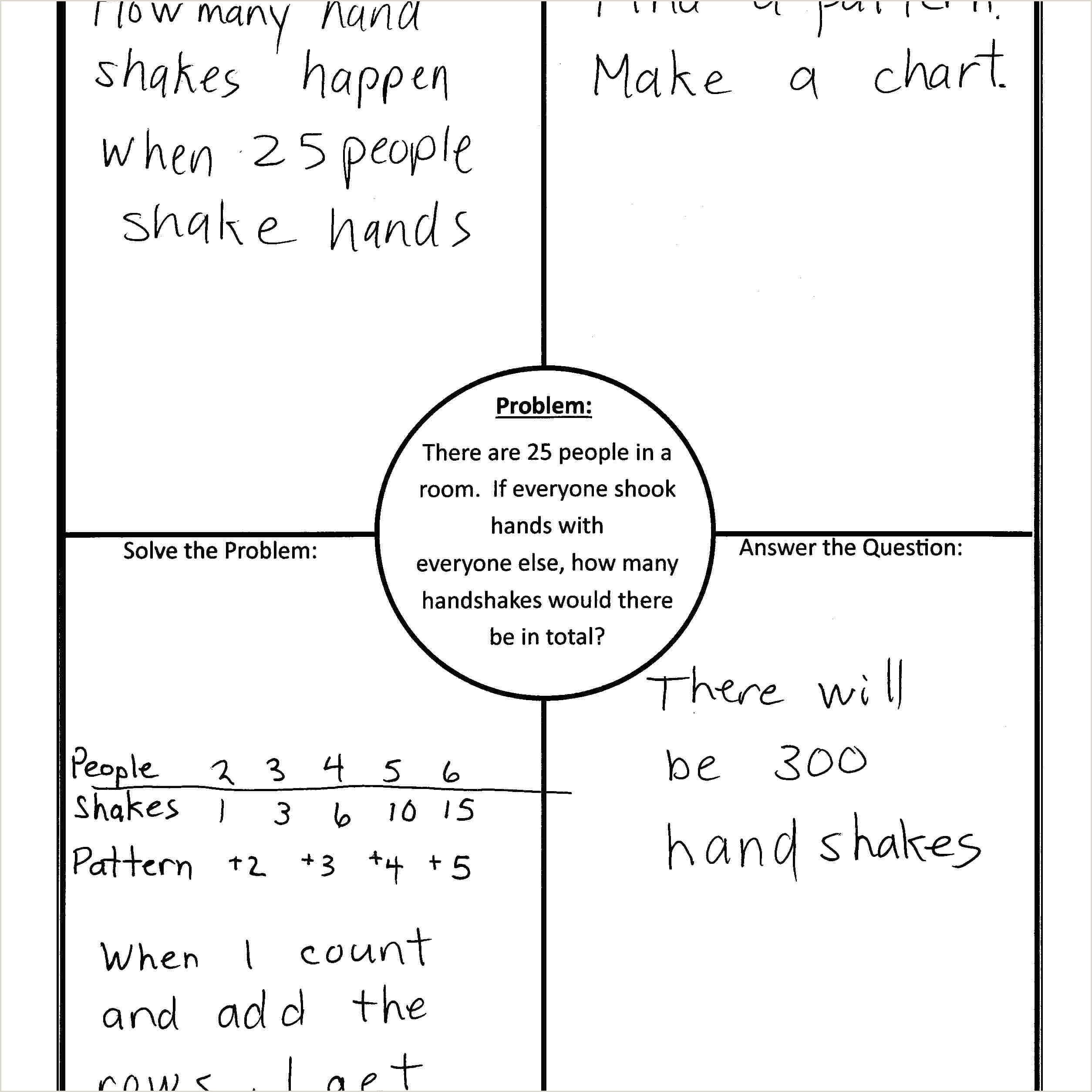 Four Square Writing Graphic organizer Using 4 Block 4 Corners Template In Math
