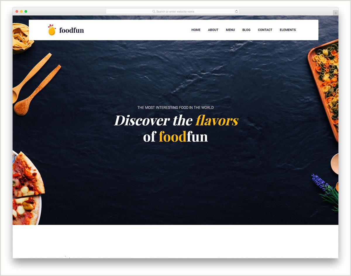 33 Best Ever Free Restaurant Website Templates 2019