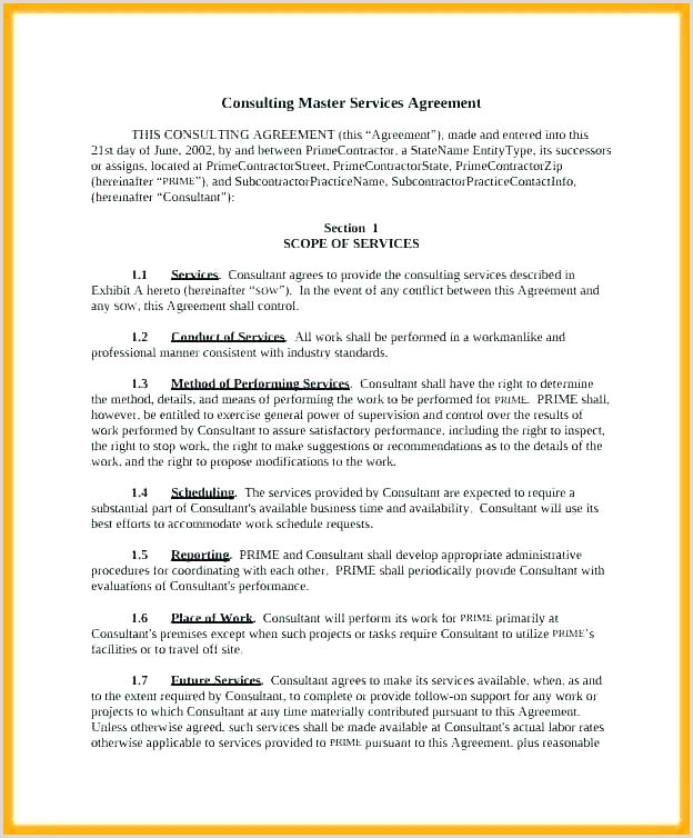 Examples Free Caregiver Contract Template Design Template