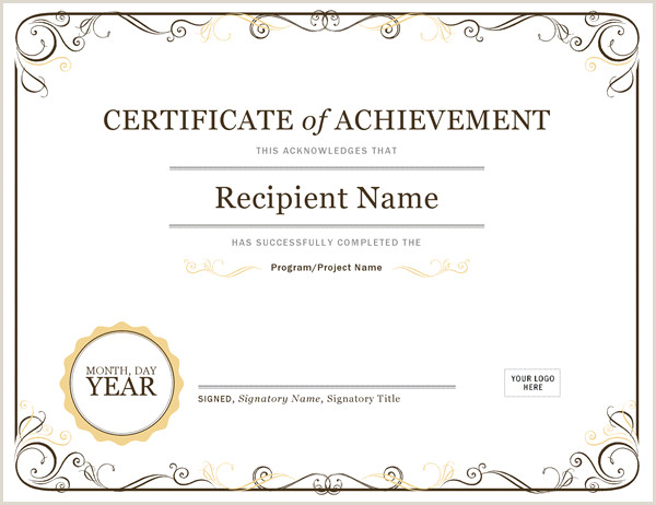 Free Certificate Border Templates for Word Certificate Of Achievement