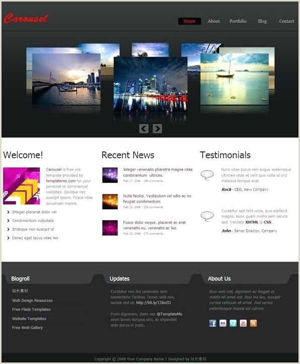 Css Page Template Carousel Templates Design Hero Interactive