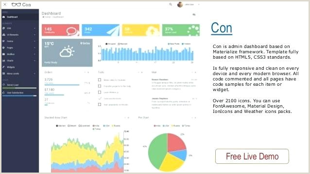 Free Download Template Admin Materialize Free Smartech HTML5 Admin Dashboard Template Free Download