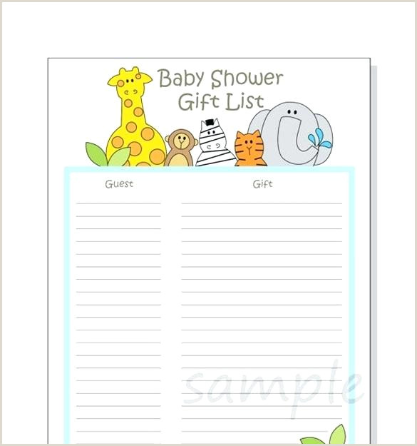 Free Downloadable Bridal Shower Games Bridal Shower Gift Log Template List Gifts Specialization