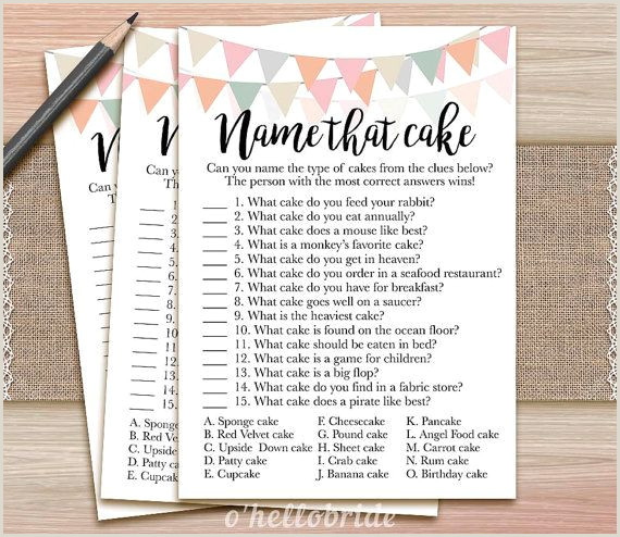 Free Downloadable Bridal Shower Games Name that Cake Bridal Shower Game Guess the Cake by