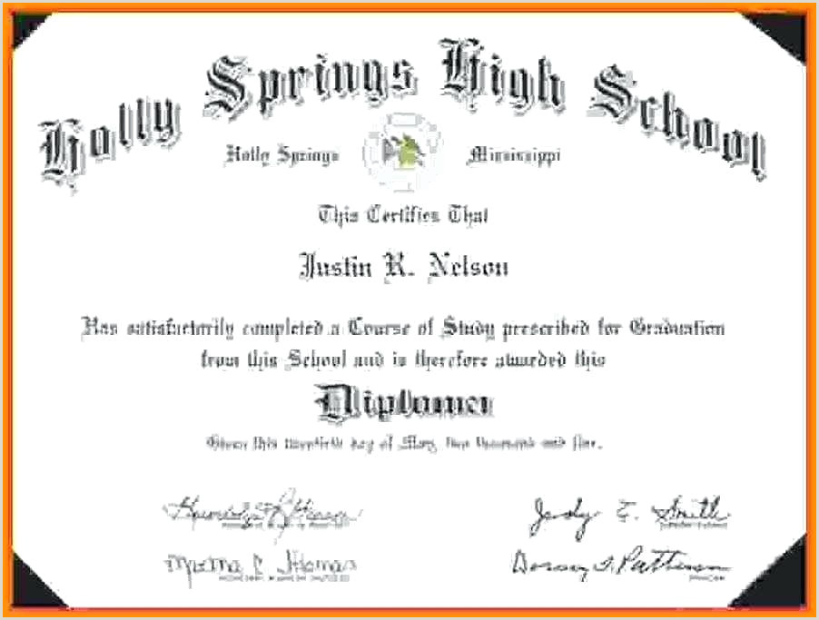 Free Editable High School Diploma Templates Diploma Template High School Simple Free Transcript