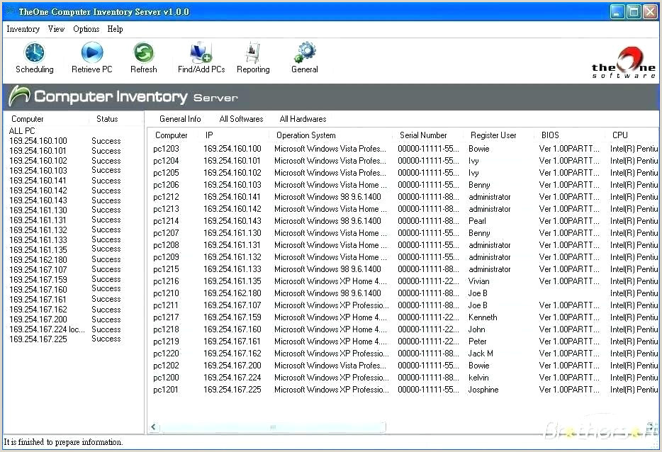 software inventory excel template