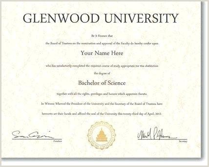 free fake degree template