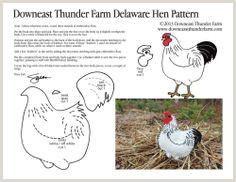 Free Felt Bird Pattern Free Chicken Sewing Pattern