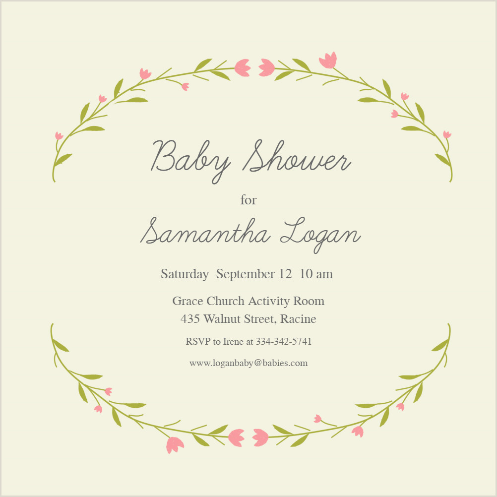 Free First Communion Invitation Template Baby Floral Arcs Baby Shower Invitation Template Free