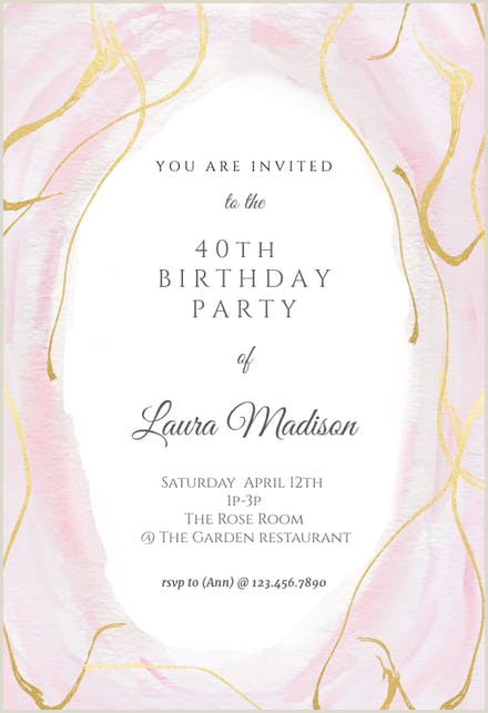 Free First Communion Invitation Template Falling Gold Confetti Birthday Invitation Template Free