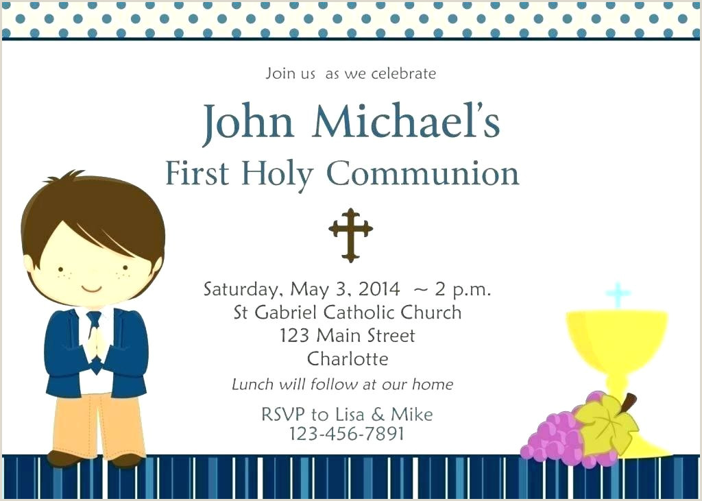 Free First Communion Invitation Template First Munion Invitation Templates 1st – Edunova