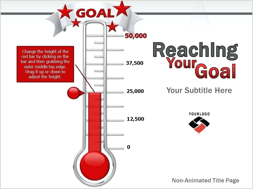 Fundraising Goals Template Free Goal Thermometer Chart Ideas