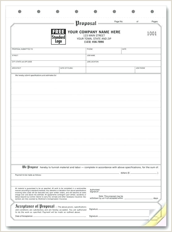 Free Hvac Proposal forms Bid Proposal form Hvac forms Template
