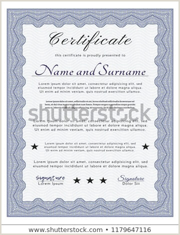 Blue Sample Certificate plex Background Perfect Stock