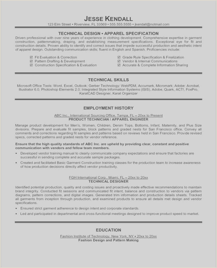 Free Illustration Essay Examples Fashion Resume Examples Professional 43 Unique Cover Letter