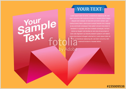Layout Design with Copy Space on Folded Paper Vector