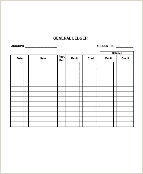Excel Accounting Ledger Template Free General E Journal