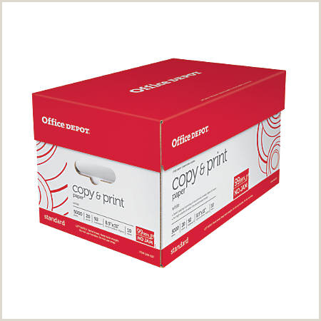 fice Depot Brand Copy & Print Paper Letter Size Paper 20 Lb 500 Sheets Per Ream Case 10 Reams Item
