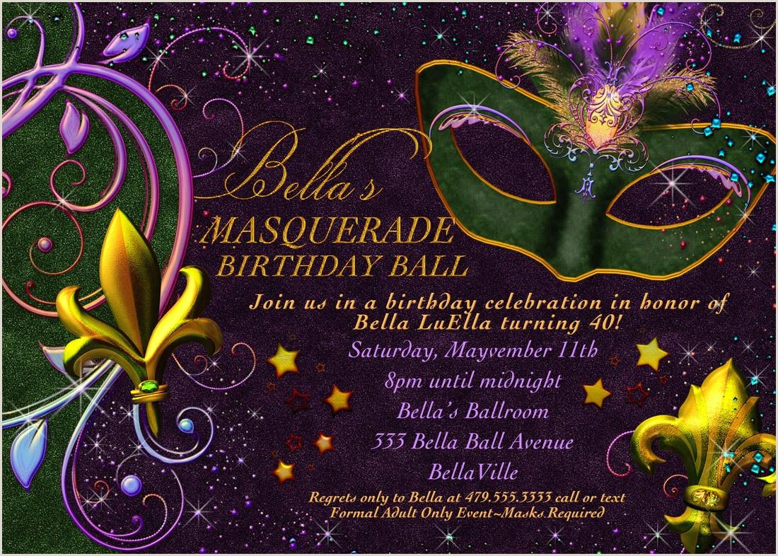 Free Mardi Gras Invitation Templates Masquerade Invitations Template Free Anarchistshemale