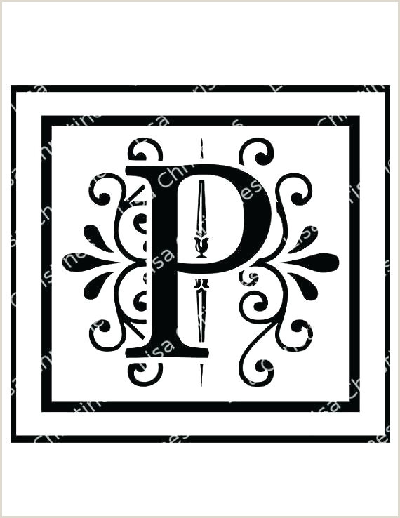 Free Monogram Template for Word Printable Monogram Letter Template