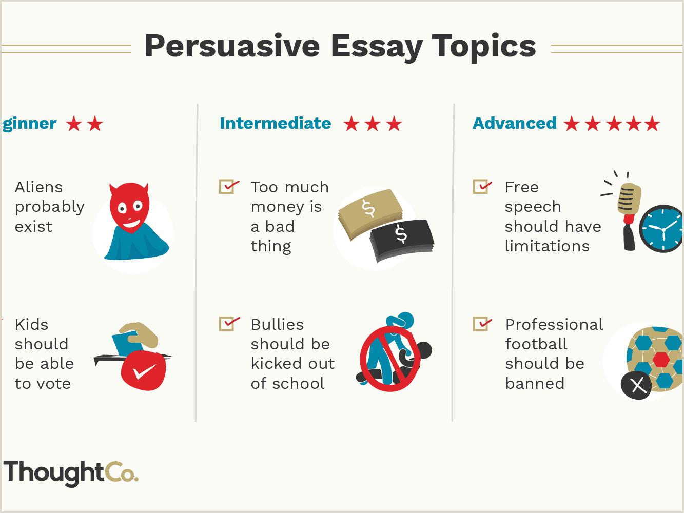 Free Personal Narrative Essay 100 Persuasive Essay topics