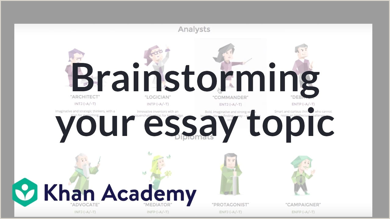 Brainstorming tips for your college essay video