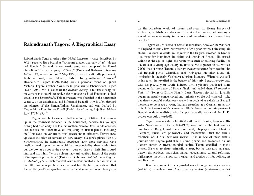 Free Personal Narrative Essay Pdf Rabindranath Tagore A Biographical Essay