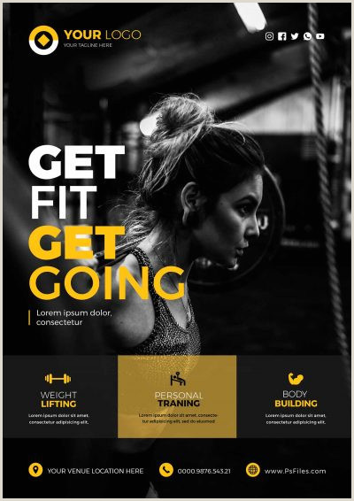 Free Photoshop Sports Templates Free Fitness Gym & Sport Psd Flyer Templates Stockpsd