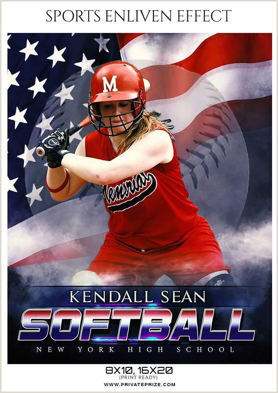 Kendall Sean Softball Sports Enliven Effect graphy template
