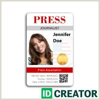 Free Press Pass Template 15 Best Press Pass Images