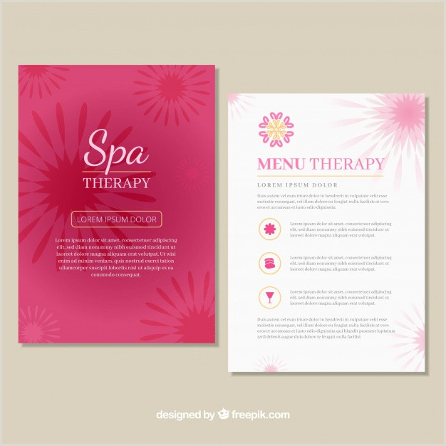 Spa center price list template Vector