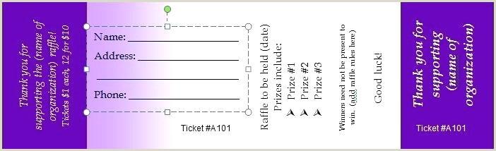 Free Raffle Ticket Templates Printable Ballot Template