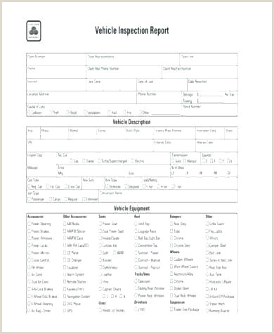 Vehicle Inspection Report Form Template Drivers Format In