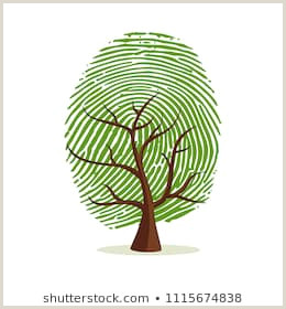 Free Printable Fingerprint Tree Finger Print Tree Stock S & Vectors