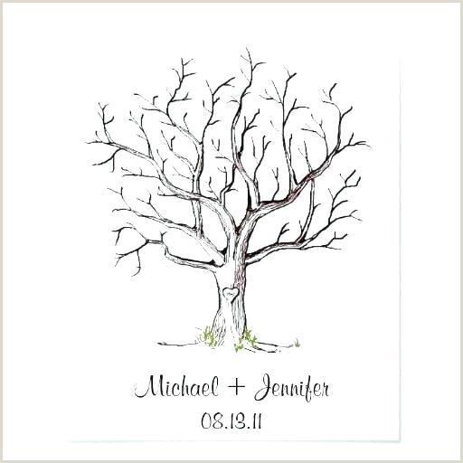 Free Printable Fingerprint Tree Guest Tree Template – Evolveprint