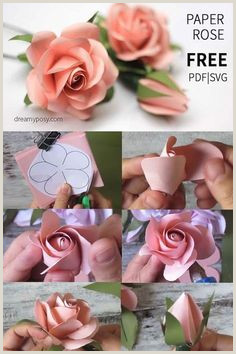 Free Rose Paper Flower Template 378 Best Flower Wall Decor Images In 2019