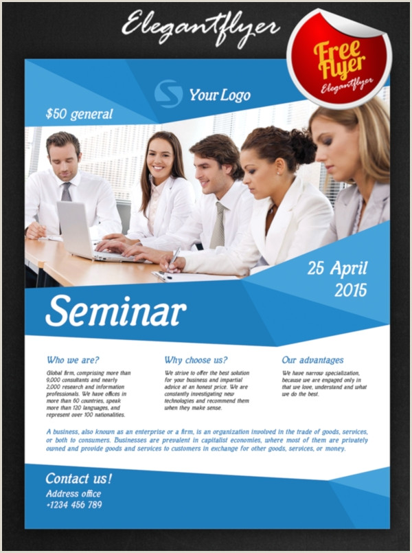 27 Seminar Flyers PSD Word AI Publisher Apple Pages