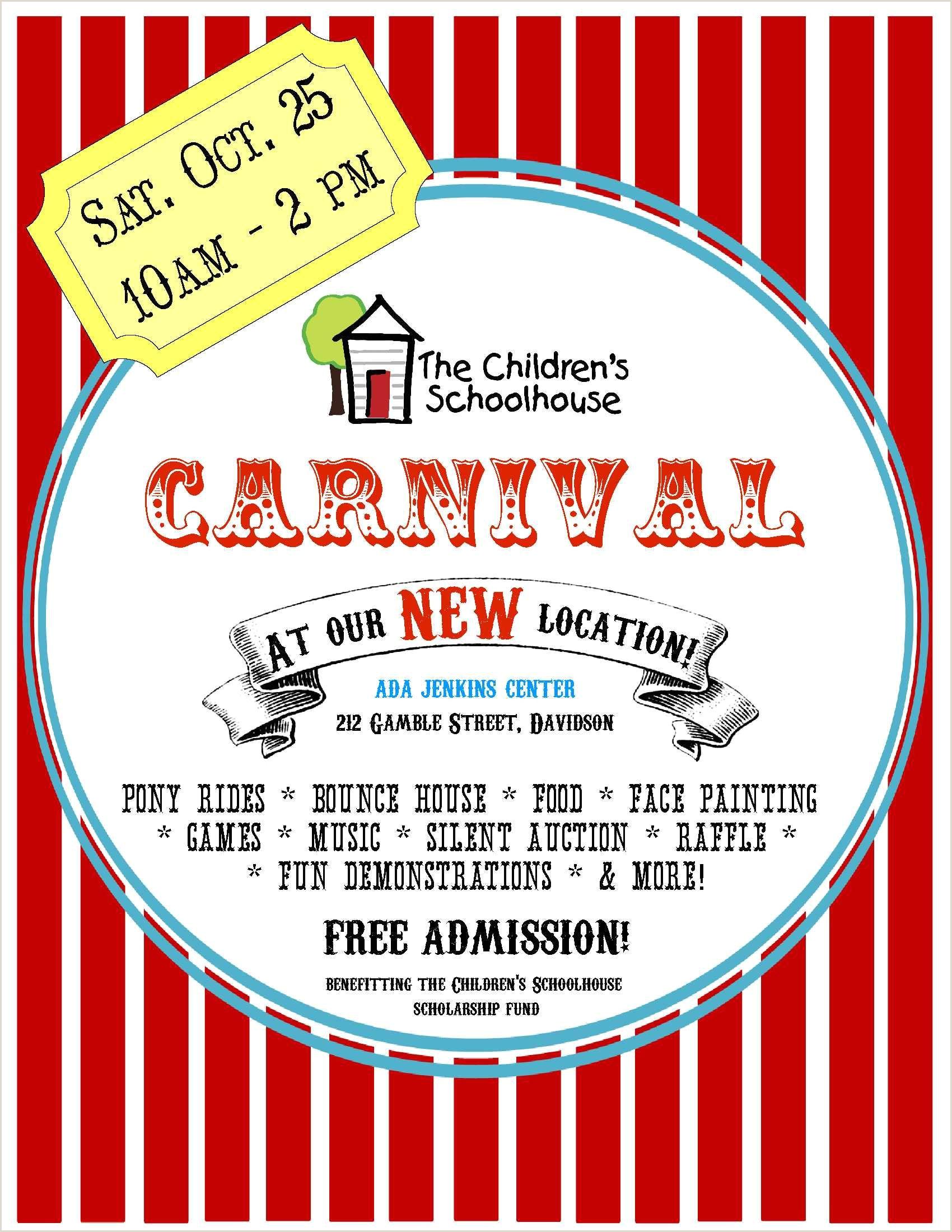 School Carnival Flyer Template Carnival