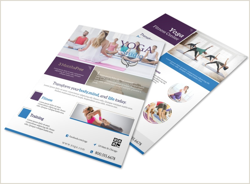 Free Seminar Flyer Template Sports & Wellness Templates