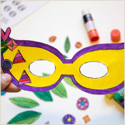 Free Superhero Mask Printables Free Mardi Gras Mask Templates for Kids and Adults