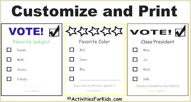 Free Voting Ballot Template Contest Entry form Template Enter to Win Printable Free