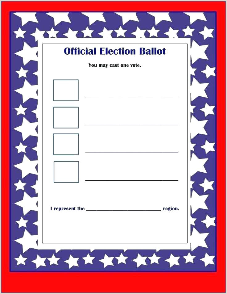 Free Voting Form Template Fresh Best Ballot Ideas Proxy